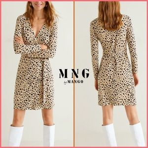 🏷 🆕 MNG | Mango Cheetah Print Wrap Dress